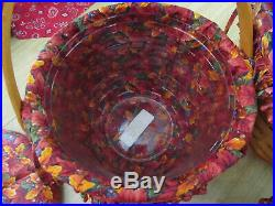 1995-1997 Longaberger set of 4 Pumpkin Basket Combos Fall Foliage