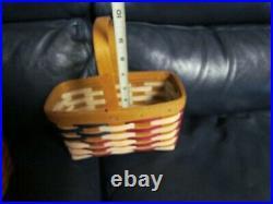 1998 Collectors Club Patriotic Flag Longaberger Baskets Set of 2