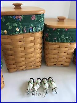 1998 Longaberger Canister Basket Complete Set of four Includes 2 Baskets