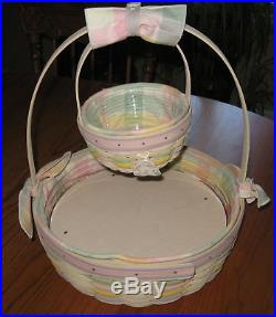 2001 Longaberger Large Easter Basket Combo + Small Combo MEGA Set with Egg Plate