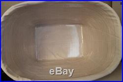 2001 Longaberger Oval Laundry Basket, Fabric, Protector, Card, Large Set