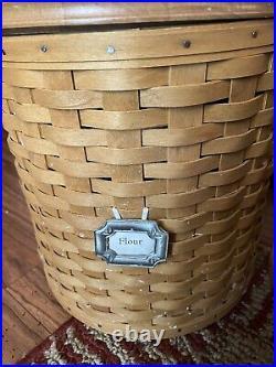 2003 20 Pc. Longaberger Canister Basket Set With Lids Tie On Sealed Protectors