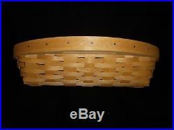 2003 Longaberger Classic Serve It Up Basket & Plastic Protector Sets & Lids EUC