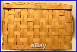 2004 Longaberger CRAFT KEEPER BASKET Combo Liner, Protector Set Woodcrafters Lid