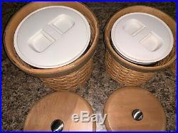 2006/2007 Longaberger Crock/Canister Basket Combo Set