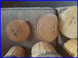 2007 Longaberger 4 basket canister setRARE