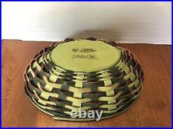 2010 Large Longaberger Collectors Club Watermelon Basket Combo Set