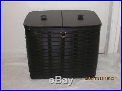 2011 Longaberger S&s Black Recycle/hamper Basket Set