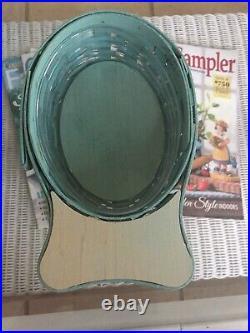 2013 Longaberger Large & Small FISH Basket & Lid Set Soft Aqua Super RARE