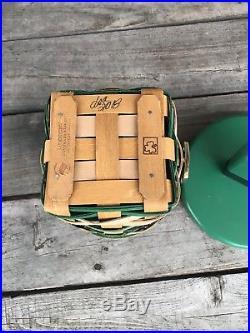 2018 St Patrick Longaberger Leprechaun Belly Basket Set W CUSTOM Lid Wow