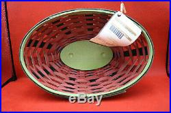 672 Longaberger 2010 Collectors Club Watermelon Basket Set NIB