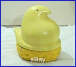 Adorable 2012 Longaberger Easter YELLOW PEEPS Basket Set
