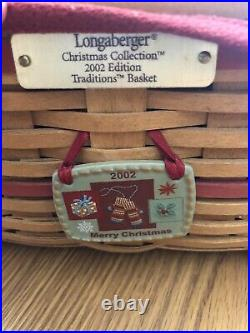 Christmas Longaberger Treasures Baskets with lids, liners and protectors Set-2