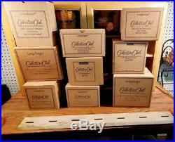 Complete JW LONGABERGER MINIATURE Basket set + Display Cabinet