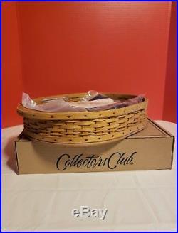 HTF Longaberger 2004 Collectors Club Tea Tray Basket Set