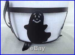 Halloween Wrought Iron Large Cauldron w Basket SET Longaberger New
