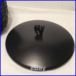 Halloween Wrought Iron Large Cauldron w Black Basket SET Longaberger New