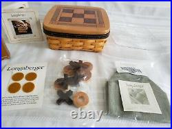 LONGABERGER 2001 FATHERS DAY CHESS, CHECKERS & TIC TAC TOE COMB BASKETS Sets Min