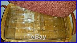 LONGABERGER 2002 Holiday Hostess Treasures Lg Basket Set(Fabric Lid, Protectors)