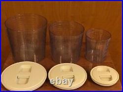 LONGABERGER 2006 Canister Set COMBO (Baskets/Lids)