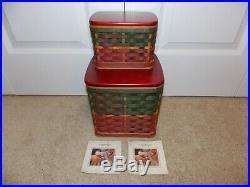 LONGABERGER 2006 Holiday HEARTH & HOME Set (Basket, Lid, Liner, Protector)