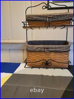 LONGABERGER 2010 Wrought Iron Foundry Collection File Basket set preowned