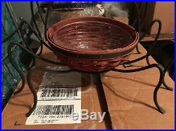 LONGABERGER 3 pc set Spider basket, prot, and WI legs new