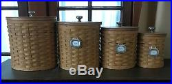 LONGABERGER Basket Canisters with Lids and sealable containers Set of 4