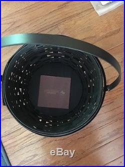 LONGABERGER Black Cauldron Basket set liner and lid