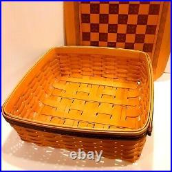 LONGABERGER Checker Board Basket & Tic Tac Toe Basket Set Fathers Day 2000