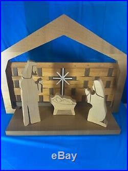 LONGABERGER Christmas NATIVITY Set 10 PC MAPLE WOODCRAFTS RETIRED