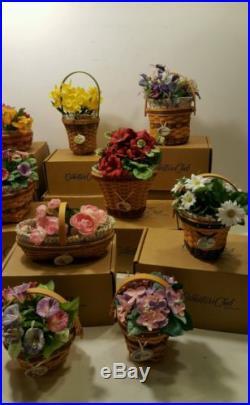 LONGABERGER Grandma Bonnie's May Series Complete set 14 Miniature Baskets LOT