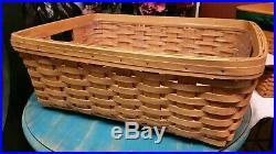 LONGABERGER Large Storage Solutions Basket Set-Warm Brown(Protector, Basket)
