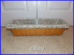 LONGABERGER Wrought Iron (WINDOWBOX STAND) + Basket, Liner, & Protector Set