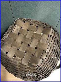 Longaberger 12 American Work Basket Set New-deep Brown