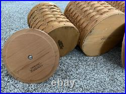 Longaberger 12 Pc Basket Canister Set, Lids, Baskets, Air Tight Containers