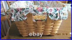 Longaberger 1993 Small Wash Laundry Basket Set basket liner protector