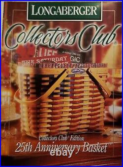 Longaberger 1998 25th Anniversary Collectors Club Flag Basket Set