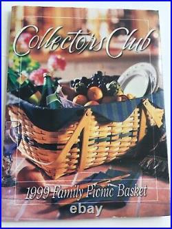 Longaberger 1999 Collectors Club LARGE FAMILY PICNIC Basket Complete Set NEW