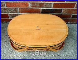 Longaberger 1999 Generosity Picnic Basket 5 Piece Set Signed NEW
