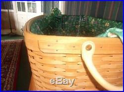 Longaberger 1999 Hostess Hope Chest Basket Set with Lid Emerald Vine