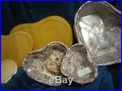 Longaberger 1999, Set of 3, Sweetheart Baskets, Love Letters, With Lids