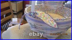 Longaberger 2000 Century Celebration Whitewashed Easter/Jelly Bean Baskets Set