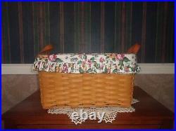 Longaberger 2000 Small Wash Day Basket Set Garden Splendor