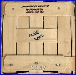 Longaberger 2000 Spoon Basket Square Canister Set 4 with Protectors Lids NATURAL
