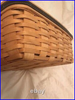Longaberger 2001 Father's Day Checkerboard Basket Full Set Liner, Protector