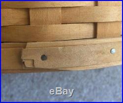 Longaberger 2001 Large Work Load Set Excellent, Lightly Used Condition