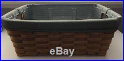 Longaberger 2001 Medium Storage Solutions Basket Combo Set with Sage Liner