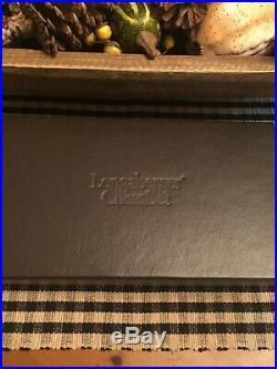 Longaberger 2001 Pewter Brass CHESS Set Fathers Day EXC