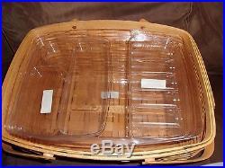 Longaberger 2002 Craft Keeper Basket Set with Lid Choice Liner